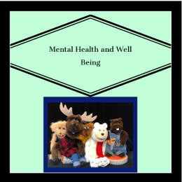 Mental health and Well Being Final
